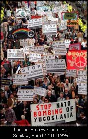 Stop NATO bombing of Yugoslavia
